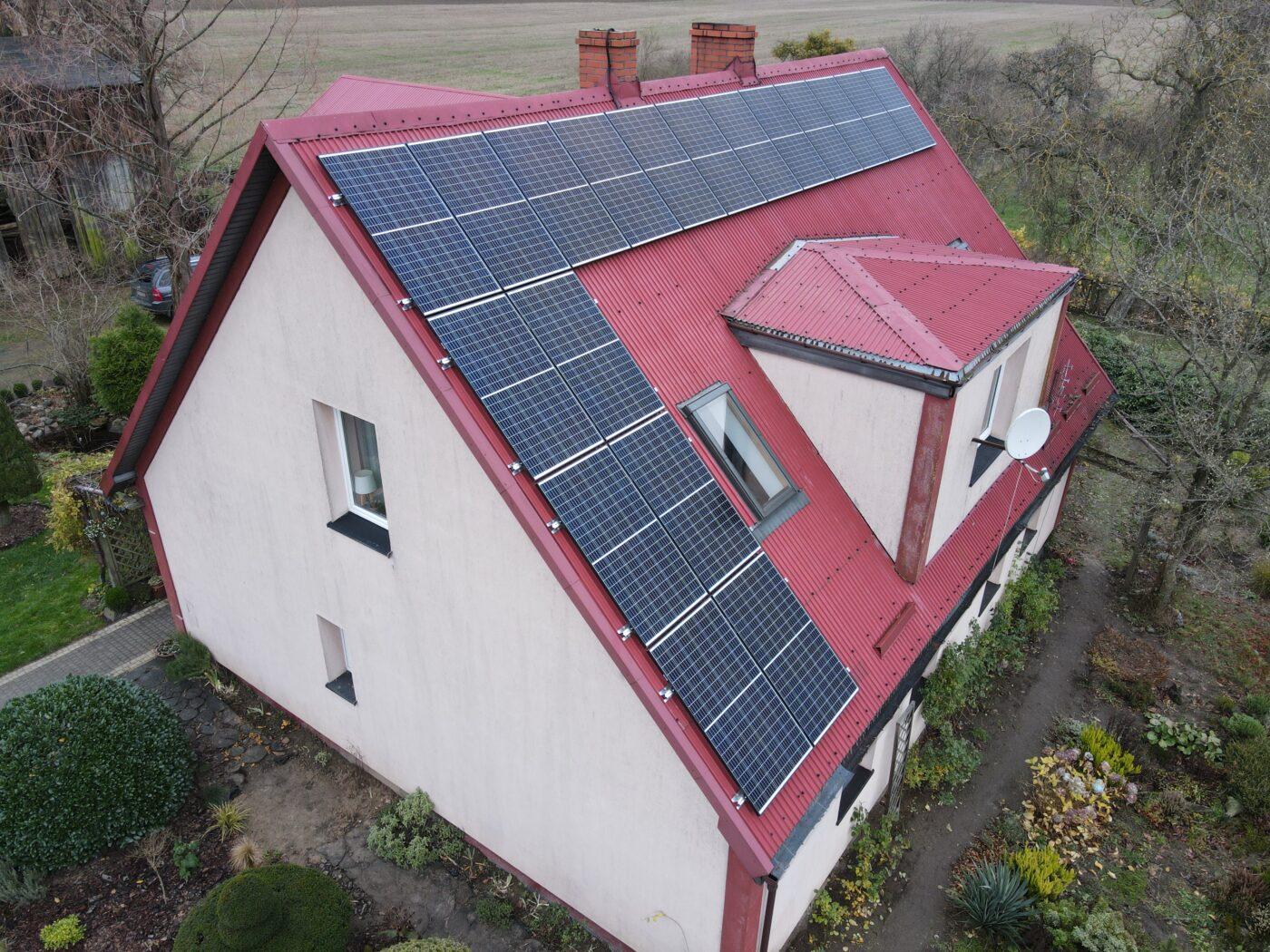 Instalacja fotowoltaiczna o mocy 6,21 kWp- Mrówczyno